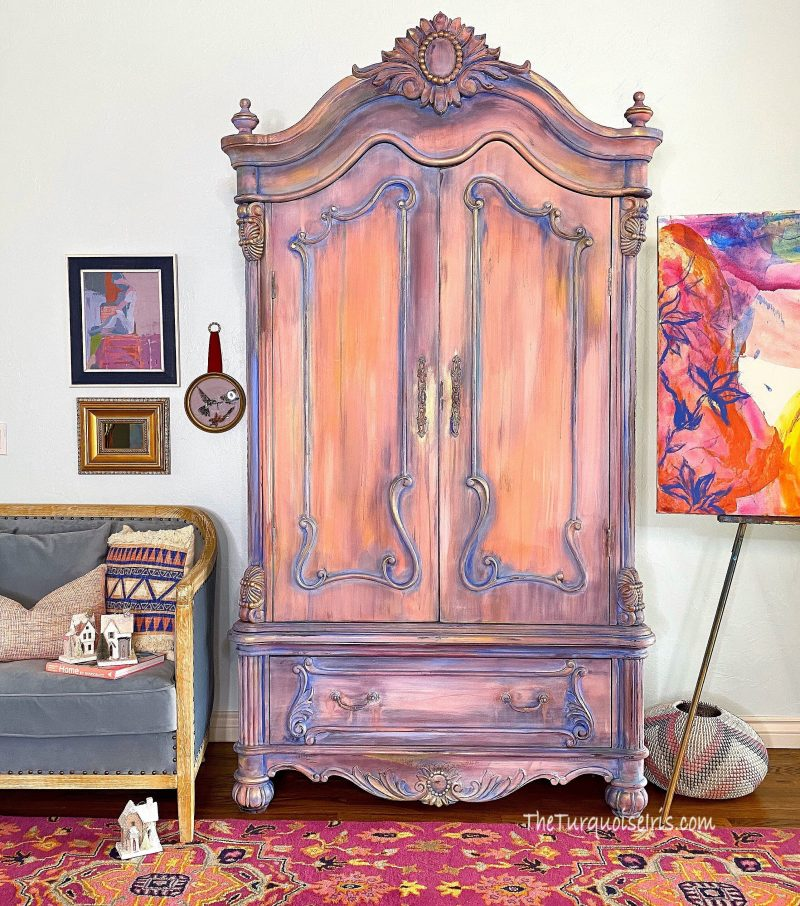 Introducing Antoinette, a Hand-Painted French Provincial Armoire