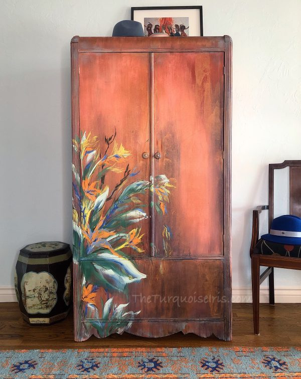 Full of Life Hand Painted Vintage Wardrobe