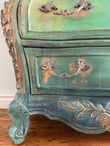painted furniture finished with white wax
