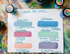 Paint Pigment Color Recipes Sample Sheet